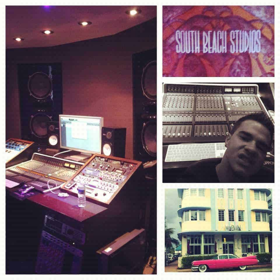 Vinny at a session at South Beach Studios doing some mixing for a client