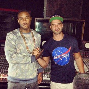 Recording artist Jeremiah and Vinny D Engineer at the Circle House Studios Miami FL - Mr Mix and Master