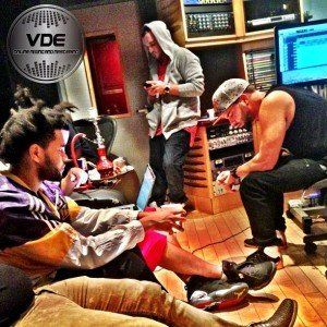 A session with French Montana & The Weeknd at The Hit Factory - Mr Mix and Master