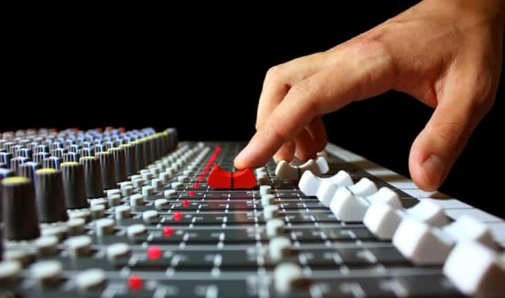 slide button on a soundboard