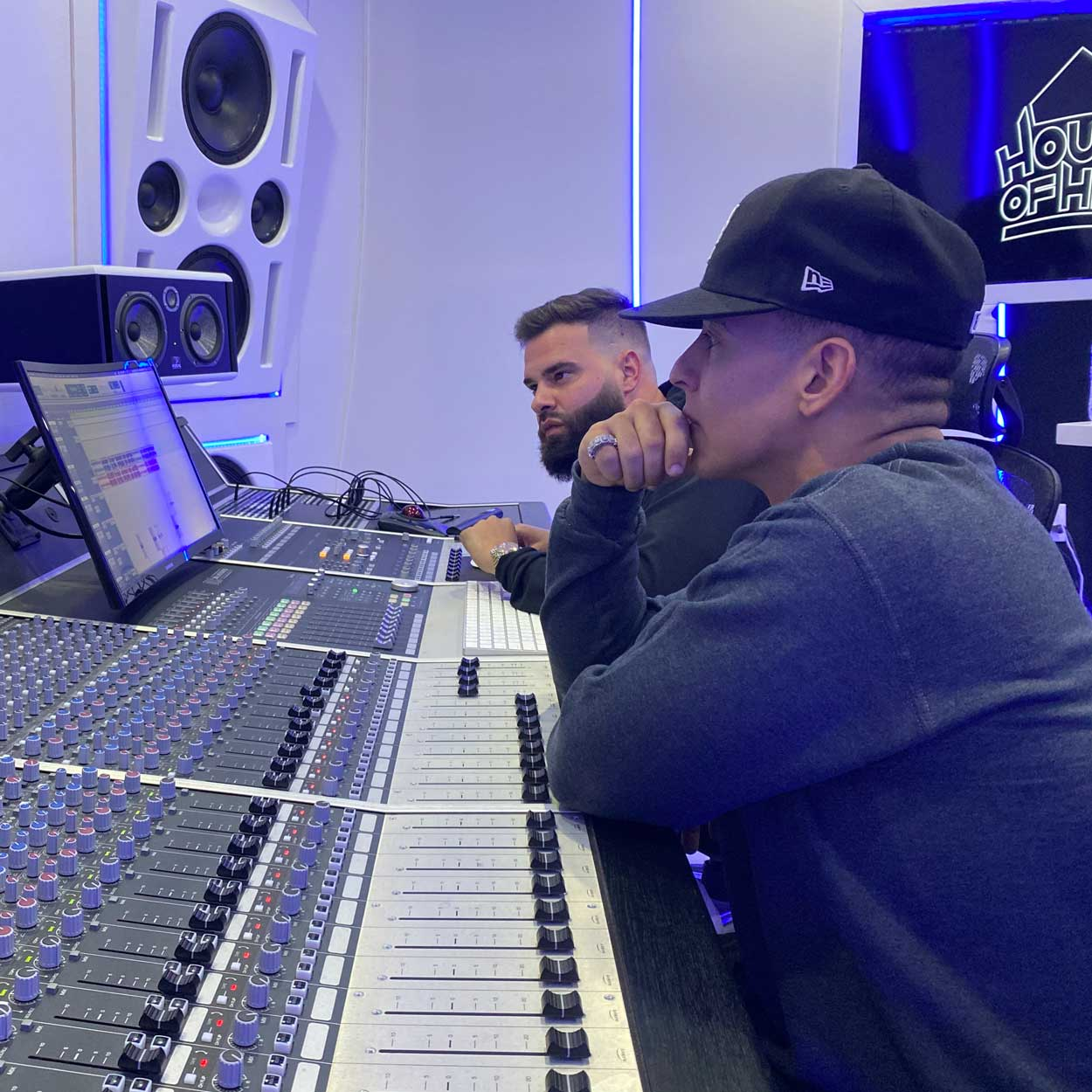 Daddy Yankee and Mr Mix and Master in Studio Mix